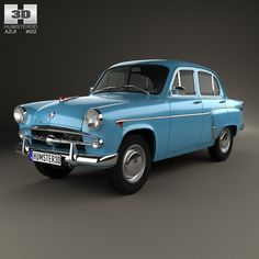 azlk moskvitch 402 3d model