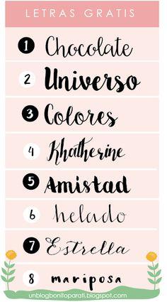 Tipos de letras para hacer cartelitos bonitos - Diseño de blogs