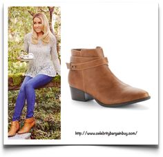Ankle Boots - Celebrity Style - Celebrity Bargain Bu. Lauren Conrad is wearing the LC Lauren Conrad Women's Strappy Ankle Boots, from KOHL's, from $45 USD. Originally priced at $ 80 USD.