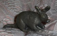 Vtg Miniature Pewter Animal Figurine Metal Coati Elephant Shrew Marsupial Pewter