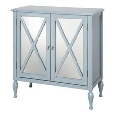 Hollywood Mirrored Accent Cabinet $142