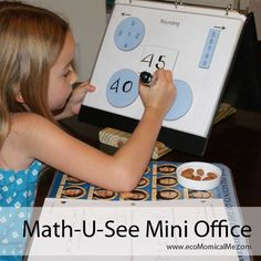 Math-U-See Beta Mini Office Lapbook Pages. This concept would be useful for daily grammar drills, sentence diagramming, and science lab time as well. Elementary Math, Kindergarten Math, Teaching Math, Maths, Homeschool Books, Homeschool Curriculum, Homeschooling, Math Resources, Math Activities