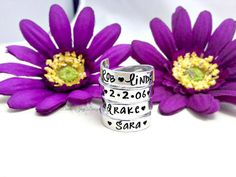 Hand Stamped Aluminum 4 Layer Wrapped Ring Personalized by DanielleJoyDesigns, $34.50