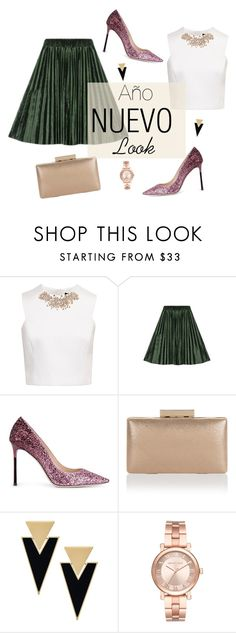 """AñoNuevo"" by arimacias on Polyvore featuring moda, Ted Baker, WithChic, Jimmy Choo, Monsoon, Yves Saint Laurent y Michael Kors"