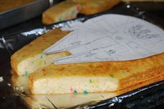 >How To Make a Millenium Falcon Star Wars Cake