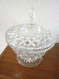 Vintage  Candy Dish with Lid 1960 by oldandnew8 on Etsy, $15.99