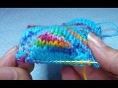 Sock knitting tutorial (heel gusset) part 6 - YouTube