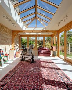 looking for more room, look at Oak framed orangeries by Arboreta by welsh oak frames sister company. Oak Framed Extensions, Bungalow Extensions, Orangery, Sunroom Designs, House Extension Design, Beautiful Homes, Roof Truss Design, House Designs Exterior, Garden Room Extensions