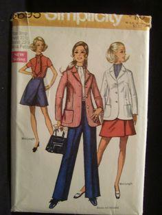 1970s Simplicity Pattern No. 8695 Misses' by EJVintageAvenue, $5.00
