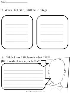 CBT Sadness worksheet 3