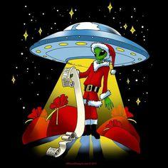 Alien Christmas T-Shirt from OffWorld Designs Christmas Quotes, Christmas Music, Christmas Pictures, Black Christmas, Funny Christmas, Christmas Nails, Christmas Trees, Merry Christmas, Christmas Decorations