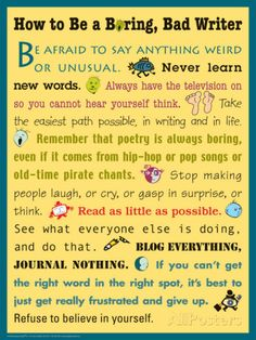 How to Be a Boring, Bad Writer Posters at AllPosters.com