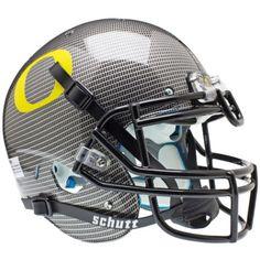 Oregon Ducks Carbon Fiber Schutt XP Authentic Helmet - Alternate 4