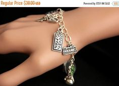 SUMMER SALE Divorce Bracelet.  Happily Divorced Charm Bracelet. Divorcee Bracelet. Freedom Bracelet. Silver Bracelet. Handmade Jewelry. by GatheringCharms from Gathering Charms by Gilliauna. Find it now at http://ift.tt/2tcBF0z!