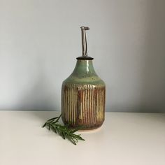 Your place to buy and sell all things handmade Olive Oil Dispenser, Olive Oil Bottles, Cooking Oil, Bud Vases, Stoneware, Ceramics, Pottery Ideas, Gifts, Etsy Shop
