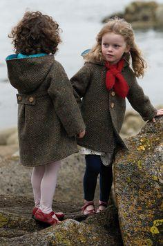 Our green tweed coats from www.siandlu.com