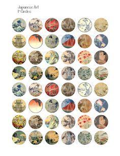 Verkauf japanische Kunst Digital Collage Sheet 1 von OldMarket