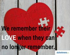 Even when our loved ones can no longer remember, it is our duty as their caregiver to always remember their love. Read more inspirational posts.