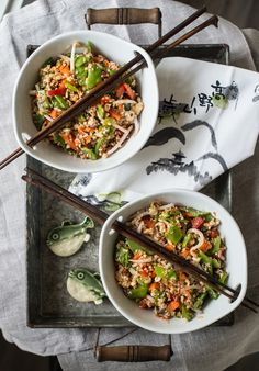 Raw Veggie Rice with Tamari Orange Sauce