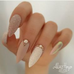 Nail Art Ideas Paint your nails white for the base. Once it dries, use the nail stripes to create the Purple stripes Picture Credit : Nail Art Ideas Paint your nails white for the base. Once it dries, use the nail stripes to create the P Nails Inc, Bling Nails, Glitter Nails, Stiletto Nails, Rhinestone Nails, Rhinestone Nail Designs, Jewel Nails, Gold Acrylic Nails, Gold Nail Art
