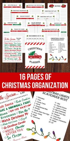 Stay organized this holiday season with 16 pages of Christmas organization included with this printable Christmas planner! Planner includes a printable calendar, christmas art print (perfect for Christmas wall art or framed Christmas print), printable Christmas scavenger hunt, printable menu, printable grocery shopping list, printable gift trackers and more! #christmas #christmasprintables #printable #printables #christmasart #planner #plannergirl #plannerlove #printableplanner #planneraddict Christmas Shopping List, Christmas Gift List, Christmas Wall Art, Diy Christmas Tree, Christmas Traditions, Christmas Time, Homemade Christmas, Christmas Journal, Christmas Nativity