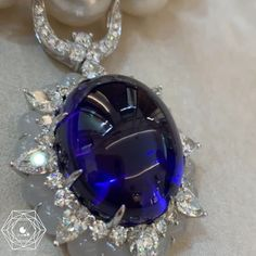 Bérengère Treussard | Like a b (@likeab) • { Paris High Jewelry Week - #TTFHauteJoaillerie } Real Masterpiece this amazing 109 carats tanzanite cabochon cut, diamonds, jade and pearls necklace by @ttfhautejoaillerieofficiel seen for #parishautecouture a collectible necklace called « Mysterious Sun » - credit #berengeretreussard @likeab . . . #ttf #likeab #masterpiece #oneofakindjewelry #dream #hautejoaillerie #highjewelry #gemstonejewelry #gems #tanzanite #jade #diamond #pearl #finejewelry…