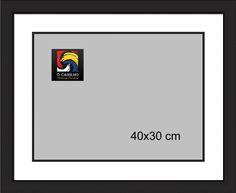 Moldura preto fosco para fotos 40x30 cm. A partir de 29.36€ com impressão incluida.  http://www.caixilho.com/pt/produto/moldurafotos40x30_69m-moldura-preto-fosco-para-fotos-40x30-cm