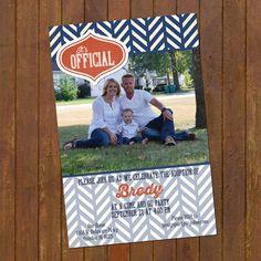 Adoption Announcement  Modern photo card by gwenmariedesigns, $15.00
