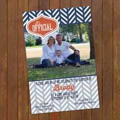 Adoption Announcement  Modern photo card by gwenmariedesigns, $15.00