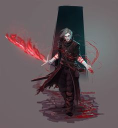 DnD: Roll for Initiative! Male Character, Character Portraits, Character Drawing, Character Concept, Character Ideas, Dnd Characters, Fantasy Characters, Sword Mage, Vampires