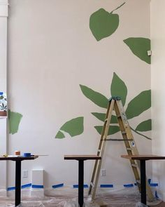 Creative Wall Painting, Wall Painting Decor, Wall Murals Bedroom, Mural Wall Art, Modern Wall Paint, Abstract Tree Painting, Murals Street Art, Floral Wall, Decoration