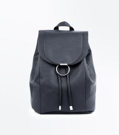 New Look black ring front backpack Handbags On Sale, Luxury Handbags, Black Rings, Hobo Bag, Evening Bags, Pebbled Leather, Leather Backpack, Fashion Backpack, Purses And Bags
