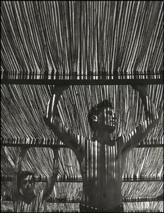 """""""Young men under reed roof"""" by Herb List. Andalucia, Spain. Torremolinos. 1951. Lovely job capturing light and shadows."""