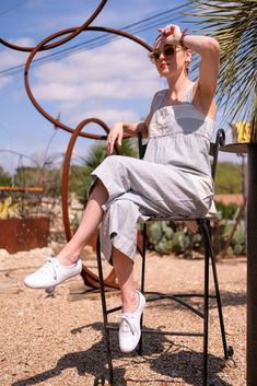 Another Jumpsuit Outfit - Gold Lion Style Keds Outfit Summer, White Keds Outfit, Keds White Sneakers, Summer Dress Outfits, Cute Outfits, Keds Shoes, Beach Outfits, Keds Champion, Summer Fashion Trends