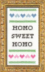 "Seriously, would this make a nice (partial) wedding gift?  And, yes, I'm talking about a gay wedding.  I think it's kind of sweet.  ""But would my friends be offended,?"" she pondered, her needle hand twitching ever so slightly...  Subversive Kits 