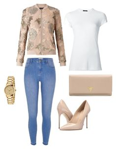 """""""Untitled #20"""" by michellelinares on Polyvore featuring Miss Selfridge, ATM by Anthony Thomas Melillo, River Island, Massimo Matteo, Prada and Gucci"""