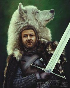 Trendy Games Of Thrones Artwork Ned Stark Game Of Thrones Artwork, Game Of Thrones Books, Game Of Thrones Fans, Eddard Stark, Arya Stark, Ned Stark Death, Group Ice Breaker Games, 1st Birthday Games, Building Games For Kids