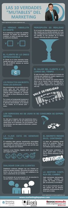 "Las 10 verdades ""mutables"" del marketing #infografia #infographic #marketing"