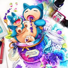 Jaaaay lovely chubby Snorlax and Munchlax coloration is finished I spend my last week together with my family and my parents in. Fotos Do Pokemon, Pokemon Memes, Pokemon Fan Art, Kawaii Drawings, Disney Drawings, Cute Drawings, Cute Pokemon Pictures, Pokemon Tattoo, Cute Pokemon Wallpaper