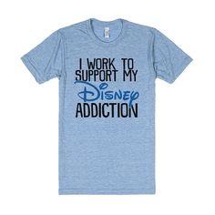 Disney Addiction  Disney Shirts  Heather Blue T Shirt XXL by Skreened