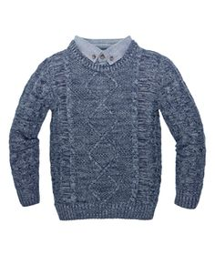 Marcus Shirt Jumper | Blue | Monsoon