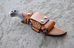 Custom leatherwork for knife sheaths.