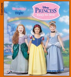 disney princess costume patterns for mom to make the little girls Disney Toddler Costumes, Disney Princess Costumes, Cinderella Costume, Disney Princess Party, Kid Costumes, Baby Dress Patterns, Baby Clothes Patterns, Costume Patterns, Sewing Patterns