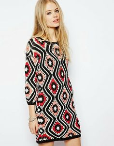 Outstanding Crochet: Patchwork Crochet Dress from Asos.