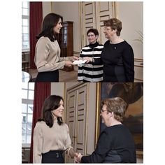 As a patrol of Maternity Fpundation, Crown Princess Mary received the donations made by Inner Wheel Club to the Maternity Foundation, which is presented by Inner Wheel Coordinator, Benedicte Haubro at the Fredrik VIII's Palace in Amalienborg.