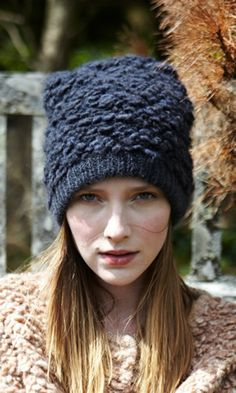 Bouclé Beanie - Plümo Ltd Knitting Accessories, Winter Accessories, Autumn Winter Fashion, Knitted Hats, Knitwear, Hats For Women, Knitting Patterns, Knit Crochet, Winter Hats
