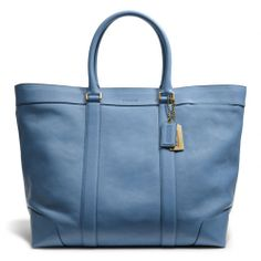 I WANT THIS SO MUCH - Perfect travel bag for work - The Bleecker Legacy Weekend Tote In Leather from Coach