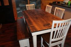 DIY Rustic Farmhouse Table #Tutorial