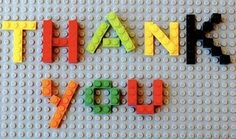 lego thank you cards