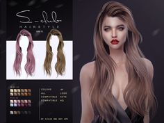 Sims 4 Cc Eyes, Sims Cc, Sims 4 Cas Mods, Club Hairstyles, Female Hairstyles, The Sims 4 Cabelos, Pelo Sims, Hair Illustration, Sims 4 Dresses